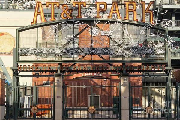 Photograph - San Francisco Giants Att Park Juan Marachal O'doul Gate Entrance Dsc5778 by Wingsdomain Art and Photography