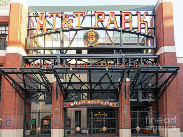 National Baseball Hall Of Fame Photograph - San Francisco Giants Att Park Willie Mays Gate Entrance Dsc5831 by San Francisco Art and Photography