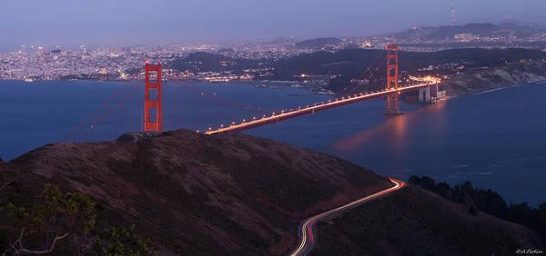 Photograph - San Francisco Golden Gate Panorama by Alexander Fedin