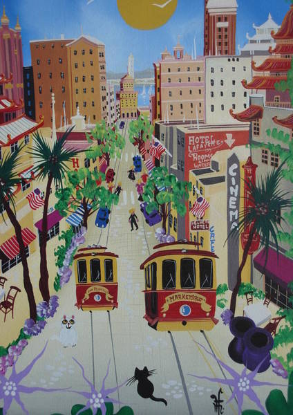 Chinatown Painting - San Francisco by Herbert Hofer