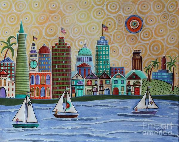 Wall Art - Painting - San Francisco by Karla Gerard