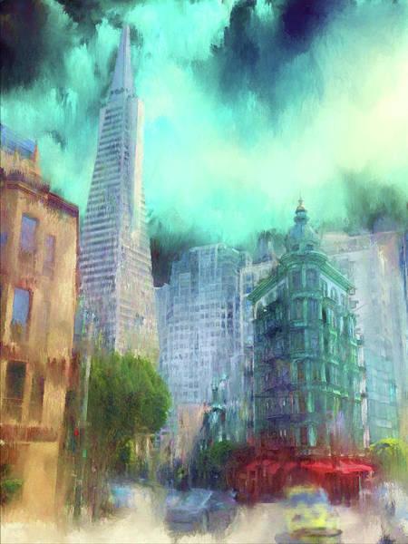 West Bay Digital Art - San Francisco by Michael Cleere