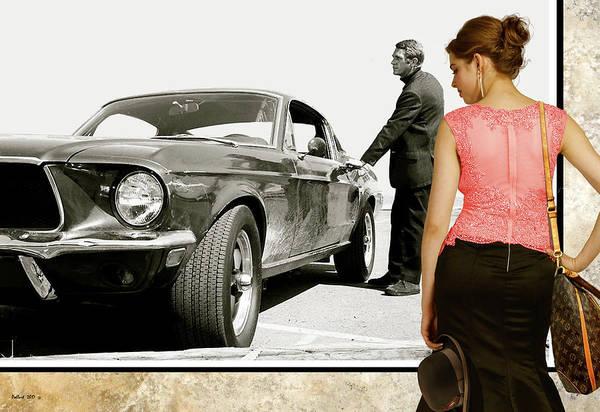 Wall Art - Photograph - San Francisco Museum Of Art, Frank Bullitt, Steve Mcqueen, Ford Mustang Gt 390, Fastback by Thomas Pollart