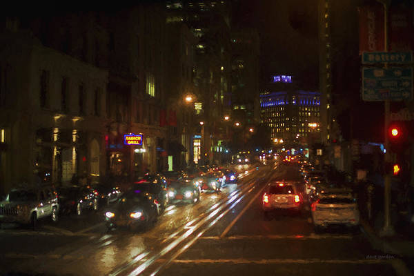 Photograph - San Francisco Night I - Painterly by David Gordon