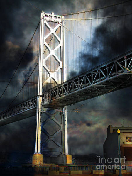 Photograph - San Francisco Nights At The Bay Bridge 7d7748 Vertical by Wingsdomain Art and Photography