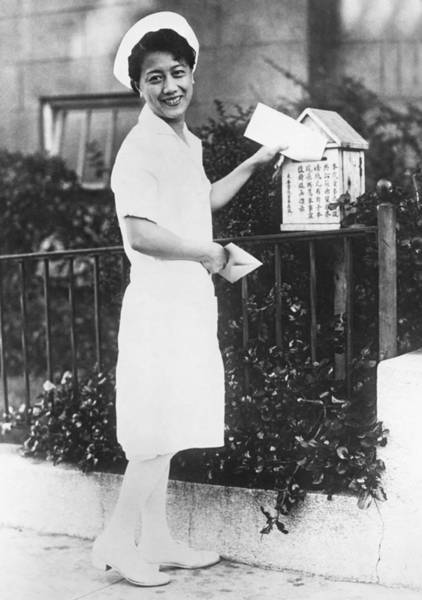 Photograph - San Francisco Oriental Mailbox by Underwood Archives