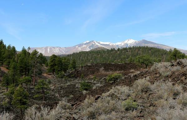 Photograph - San Francisco Peaks At Sunset Crater Volcano National Monument - 3 by Christy Pooschke
