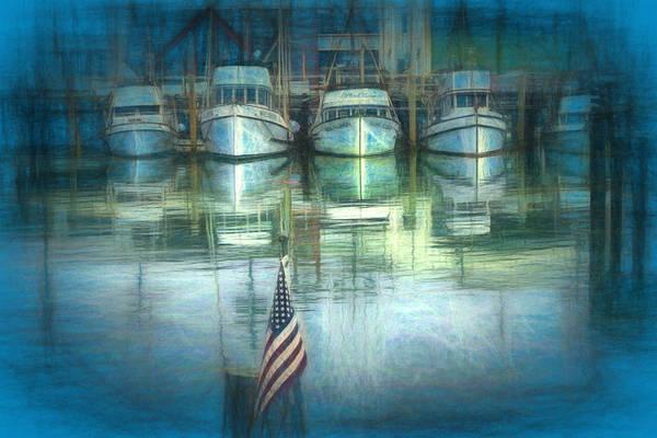 Fishing Pole Digital Art - San Francisco Pier by Michael Cleere