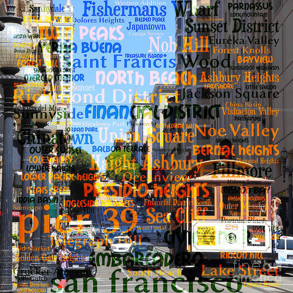 Photograph - San Francisco Places To Visit Cablecar On Powell Street 7d7261sq by Wingsdomain Art and Photography