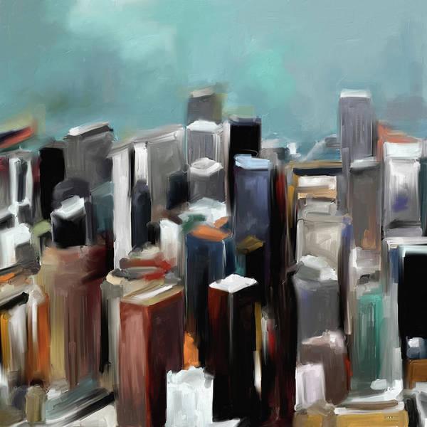Chinatown Painting - San Francisco Skycrapers by Mawra Tahreem
