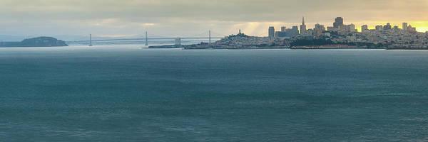 Photograph - San Francisco Skyline And Bay Bridge Panorama by Gregory Ballos