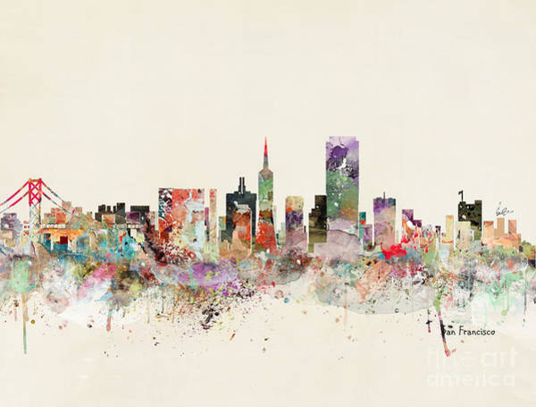 Wall Art - Painting - San Francisco Skyline by Bri Buckley
