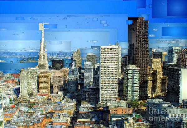 Digital Art - San Francisco Skyline by Rafael Salazar