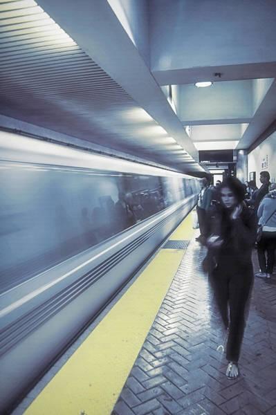 Wall Art - Photograph - San Francisco Subway  2 - Blue Dream by Steve Ohlsen