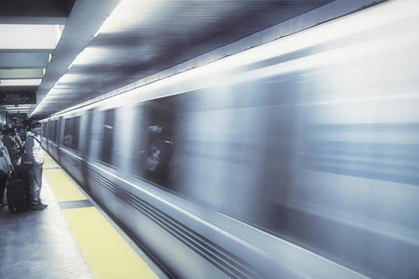 Wall Art - Photograph - San Francisco Subway - Blue Dream by Steve Ohlsen