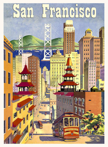 Wall Art - Painting - San Francisco, Travel Poster by Long Shot