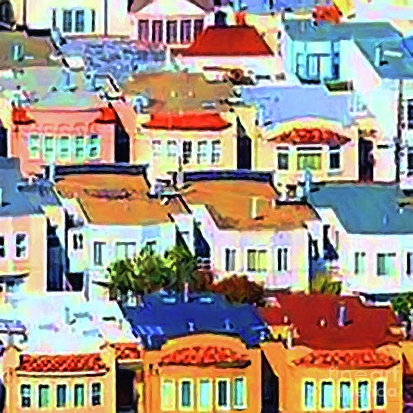 Photograph - San Francisco Urban Houses 20170901 Square V2 by Wingsdomain Art and Photography