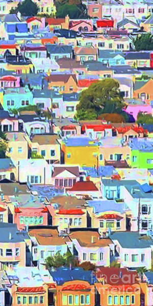 Photograph - San Francisco Urban Houses 20170901 Tall by Wingsdomain Art and Photography