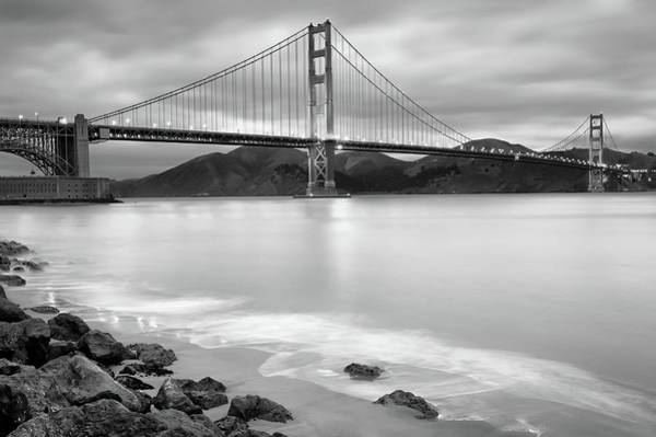 Photograph - San Francisco's Golden Gate Bridge - Black And White Edition by Gregory Ballos