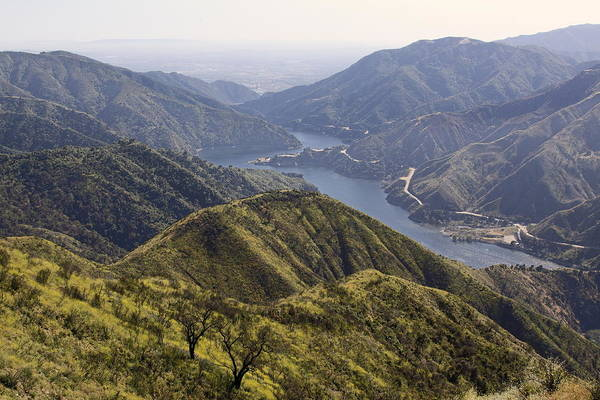 San Gabriel Canyon Reservoir Art Print