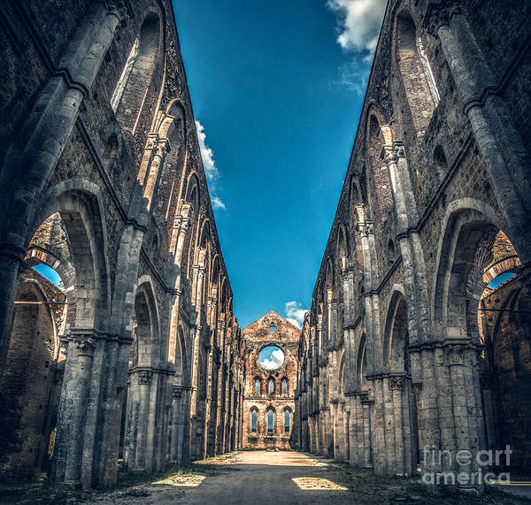Photograph - San Galgano Church Ruins In Siena - Tuscany - Italy by Luca Lorenzelli