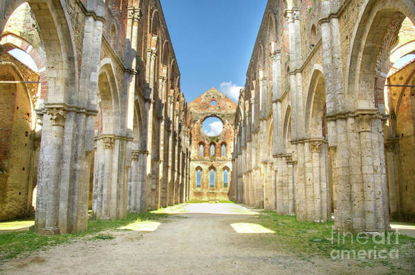 Photograph - San Galgano Roofless Church Tuscany Region by Luca Lorenzelli