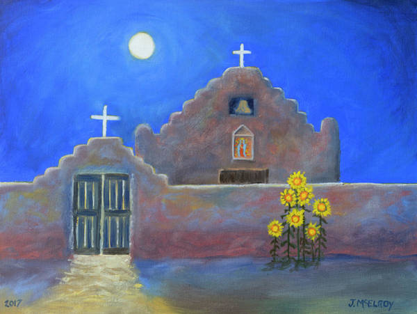 Adobe Walls Painting - San Geronimo Magic by Jerry McElroy