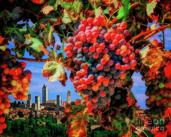 Digital Art - San Gimignano by Edmund Nagele