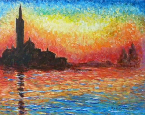 Painting - San Giorgio At Dusk by Amelie Simmons