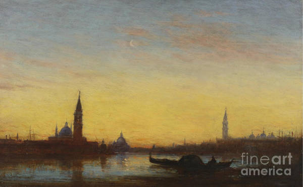 Painting - San Giorgio At Sunset by Celestial Images