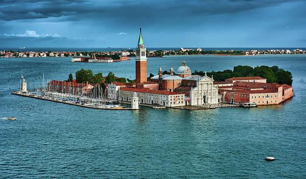 Photograph - San Giorgio Di Maggiore On The Blue Ocean In Venice, Italy by Fine Art Photography Prints By Eduardo Accorinti