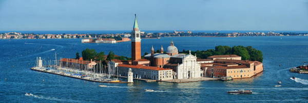 Photograph - San Giorgio Maggiore Island Panorama by Songquan Deng