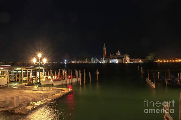 Photograph - San Giorgio Maggiori At Night by Marina Usmanskaya
