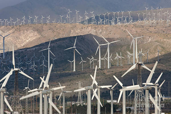 Photograph - San Gorgonio Pass Wind Farm I by Clarence Holmes