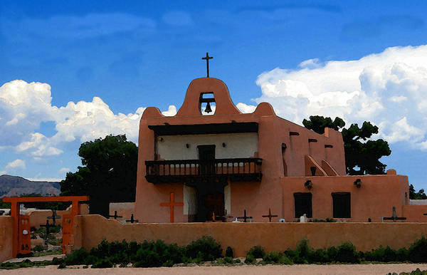 Pueblo Painting - San Ildefonso Pueblo by David Lee Thompson