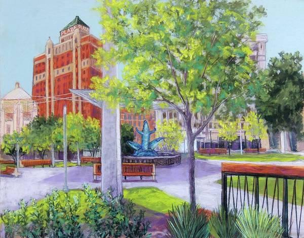 El Paso Wall Art - Pastel - San Jacinto Plaza by Candy Mayer