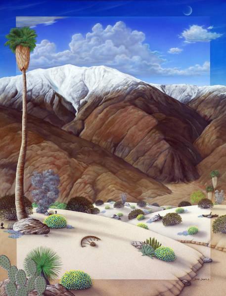 Desert Painting - Snow Creek  by Snake Jagger