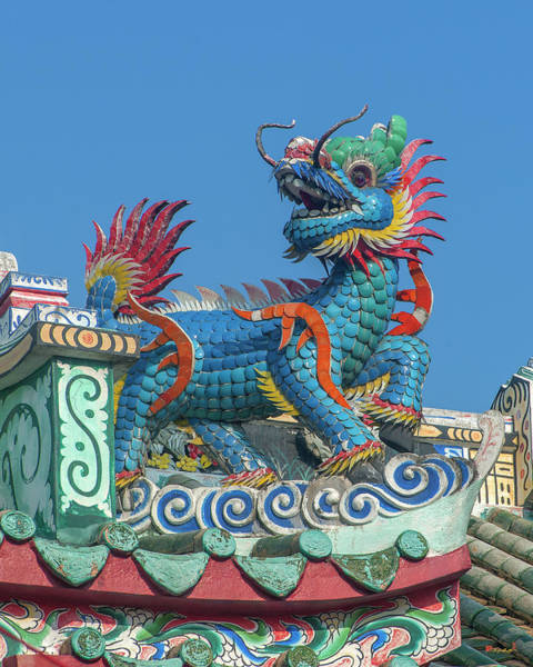 Photograph - San Jao Samphothi Yan Dragon Horse On Dragon Roof Dthb1997 by Gerry Gantt