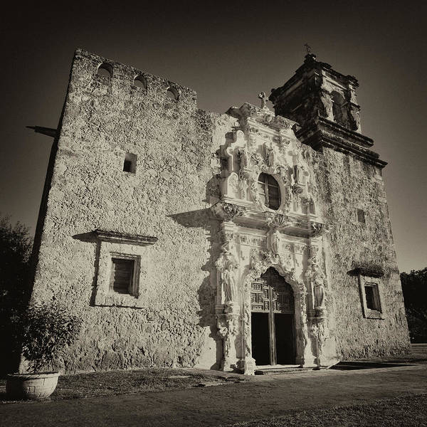 Spanish Missions Wall Art - Photograph - San Jose Mission - San Antonio by Stephen Stookey