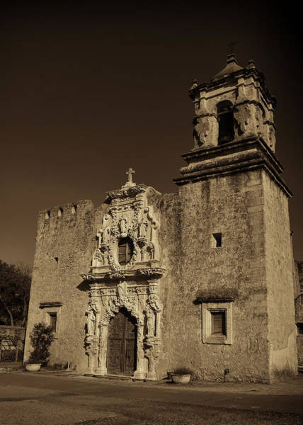 Spanish Missions Wall Art - Photograph - San Jose - Sepia by Stephen Stookey