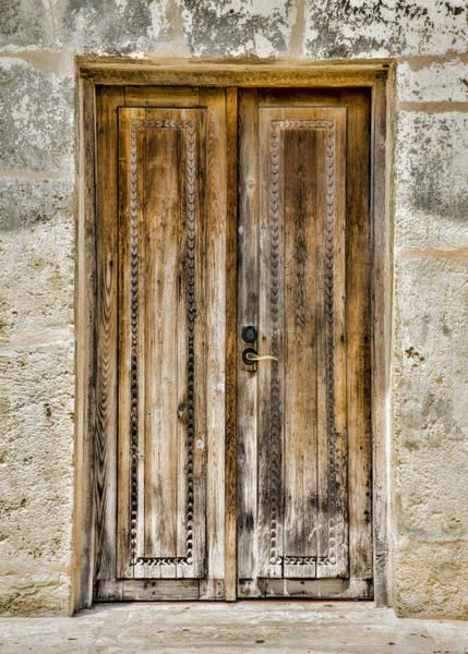 Spanish Mission Photograph - San Juan Capistrano Door #4 -- San Antonio by Stephen Stookey