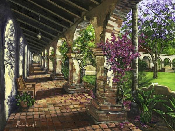 Portico Painting - San Juan Capistrano by Lisa Reinhardt