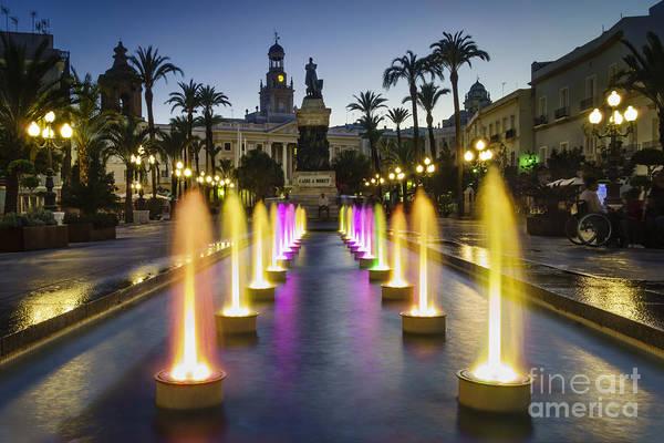 Photograph - San Juan De Dios Town Hall Square Cadiz Spain by Pablo Avanzini