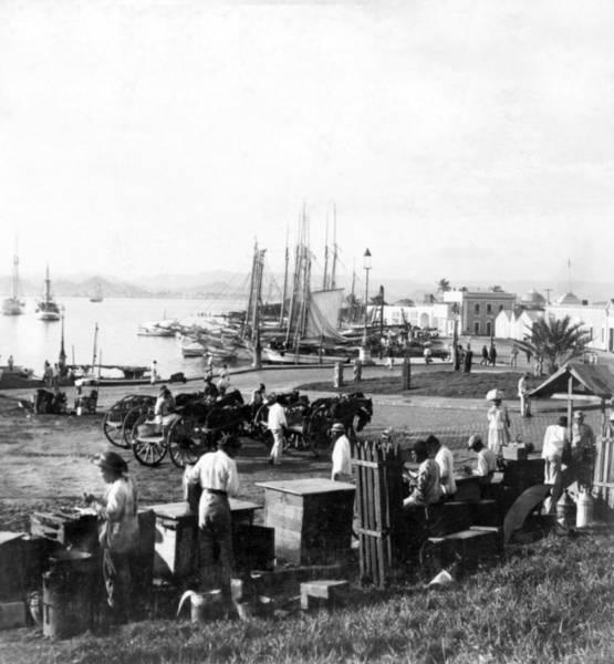 Puerto Rican Photograph - San Juan Harbor - Puerto Rico - C 1900 by International  Images