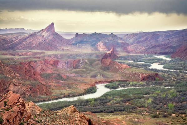 San Juan River And Mule's Ear Art Print