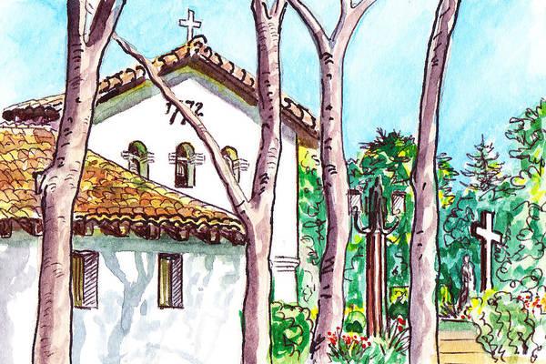Wall Art - Painting - San Louis Obispo Mission by Irina Sztukowski