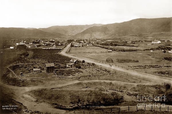 Photograph - San Luis Obispo California By Carleton E. Watkins 1876 by California Views Archives Mr Pat Hathaway Archives