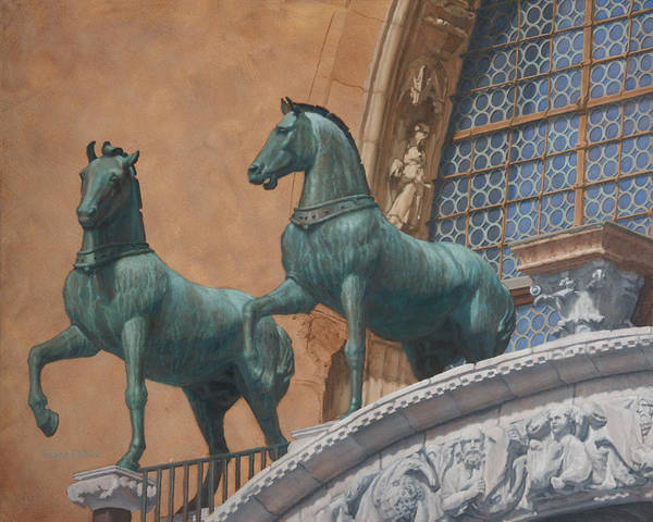 Painting - San Marco Horses by Swann Smith