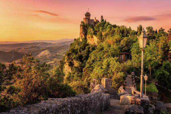 Photograph - San Marino Towers by Nico Trinkhaus