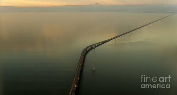 San Mateo Bridge Wall Art - Photograph - San Mateo Bridge Aerial Photo by David Oppenheimer